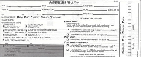 VFW Membership Application Form